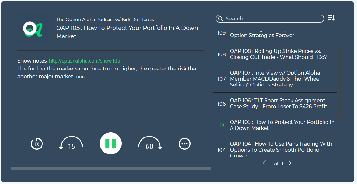 Options trading podcasts